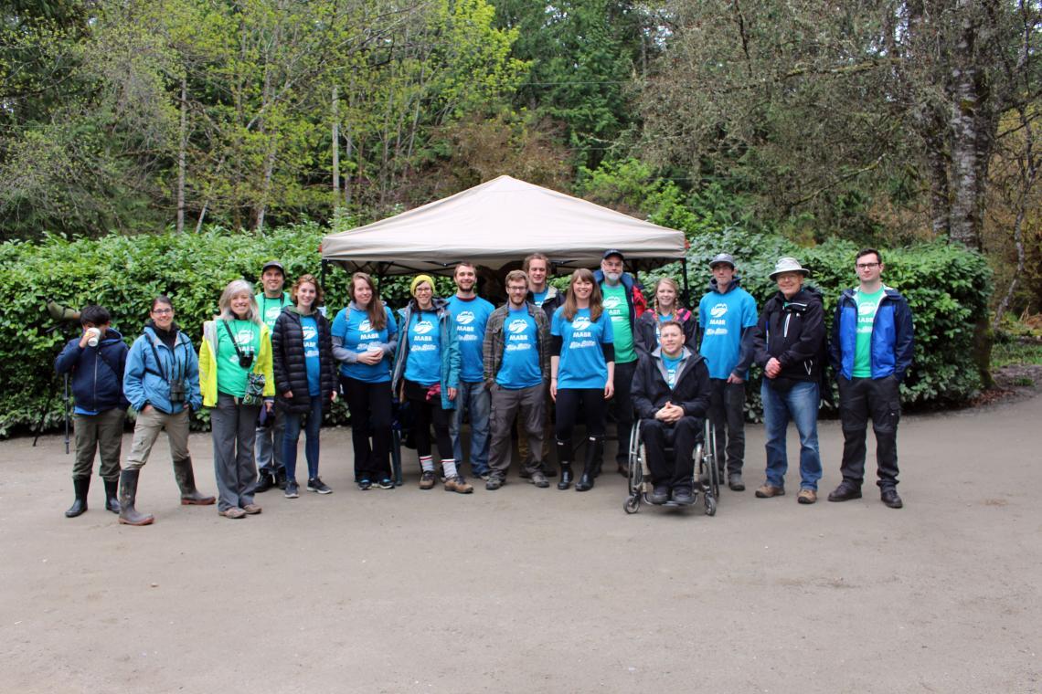 MABRRI team and volunteers at Milner Gardens BioBlitz.