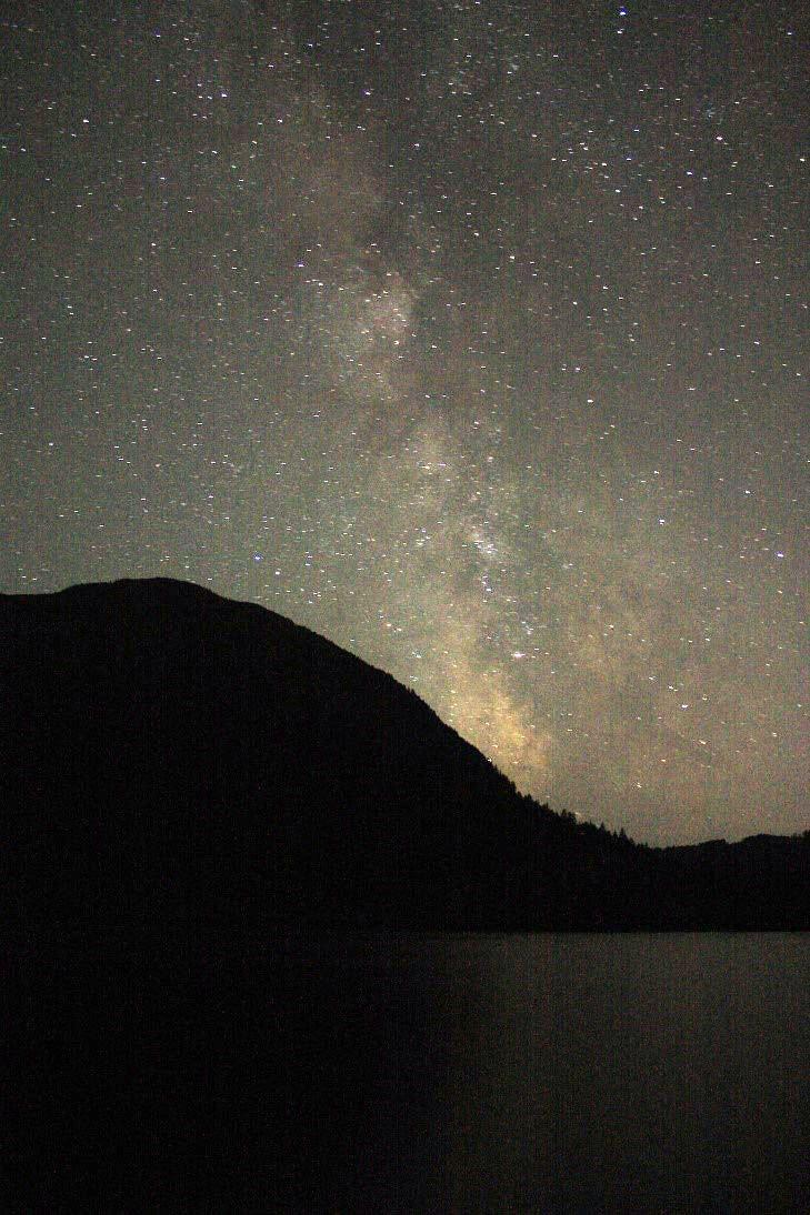 Stargazing at Cameron Lake.