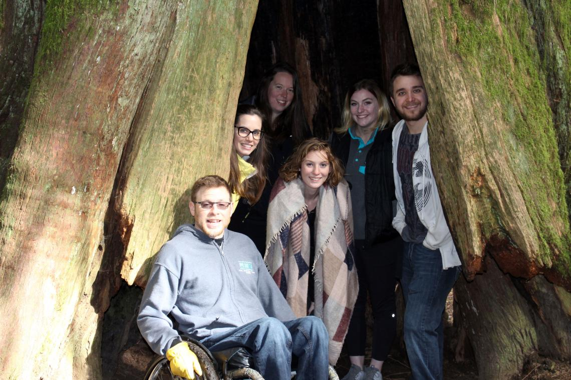The team at Cathedral Grove.