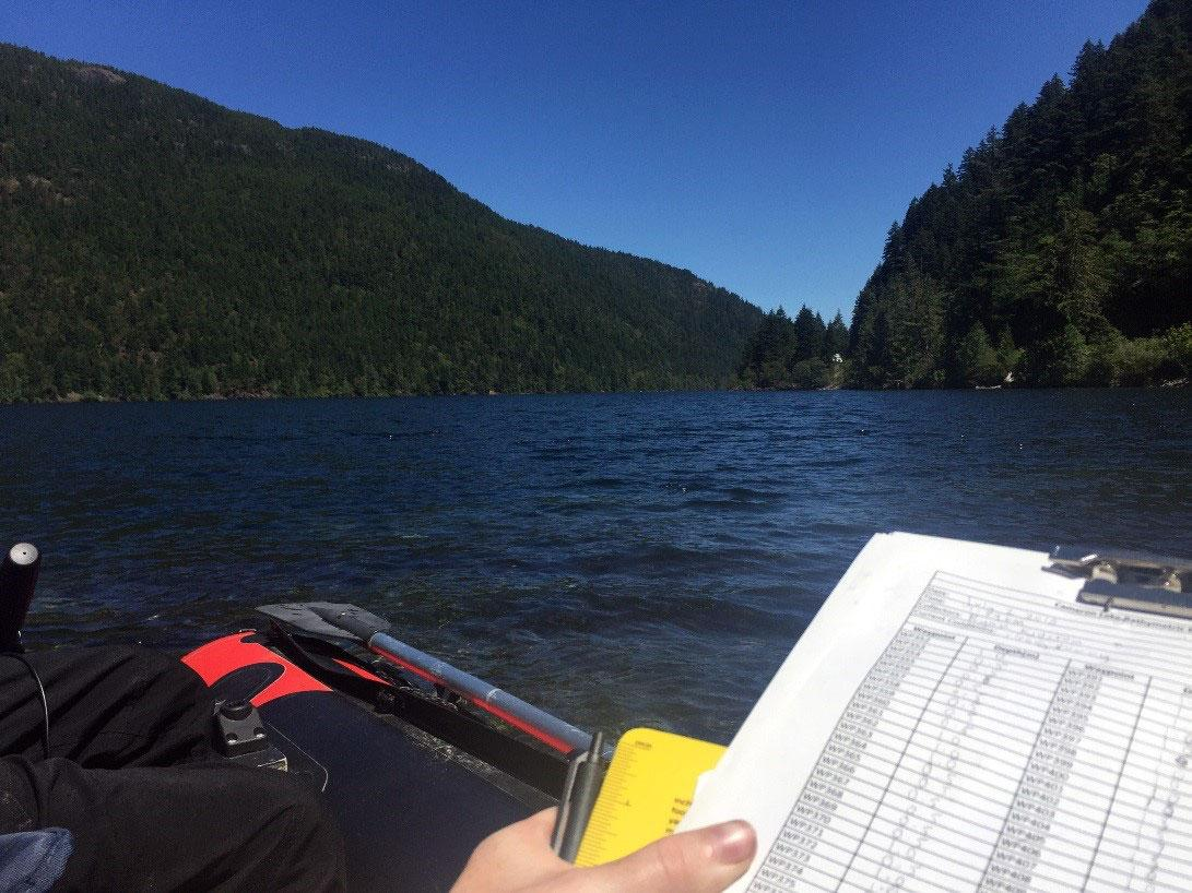 Bathymetric Mapping on Cameron Lake 2