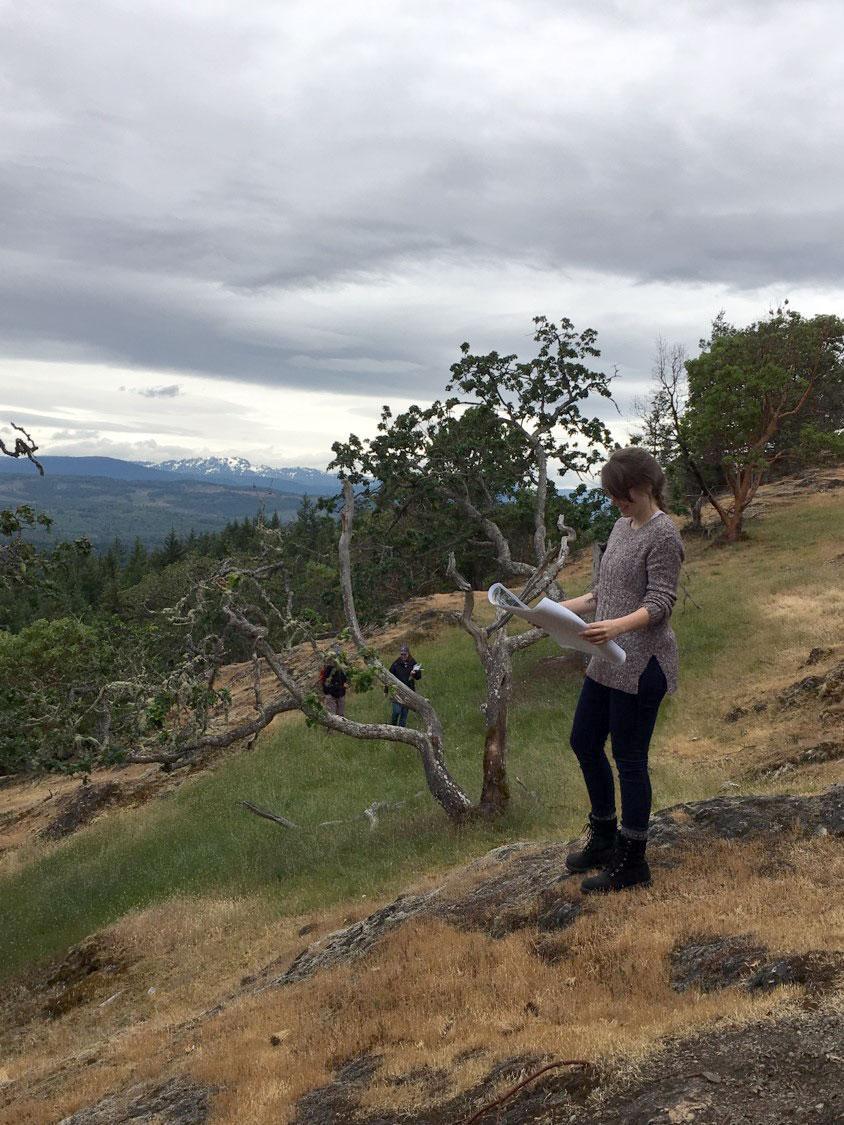 Mapping a GOE (photo by Caroline Joseffson).
