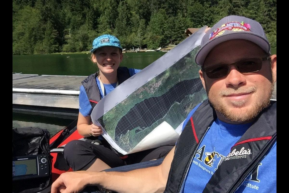 Kidston and Ryan mapping on Cameron Lake