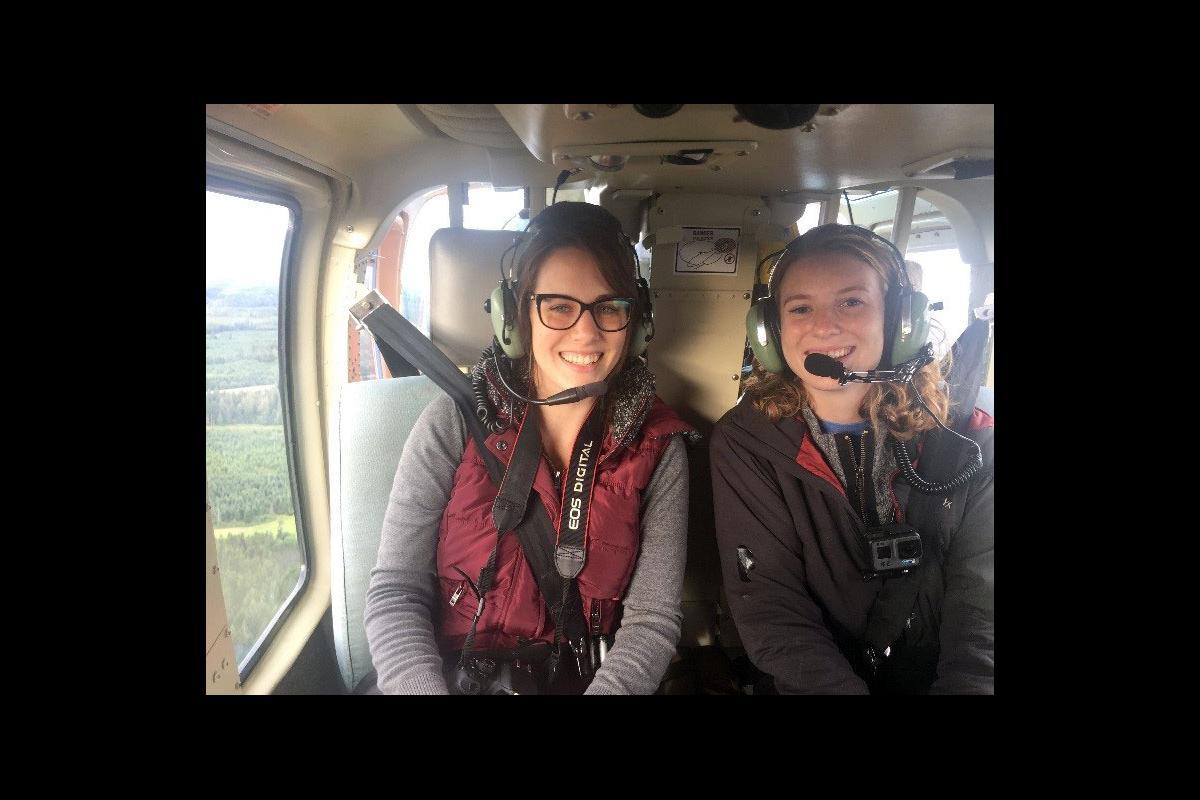 Larissa and Kidston ready for take off.